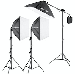 NEEWER Softbox 60x60 studiobelysning 3-Pack komplett E27