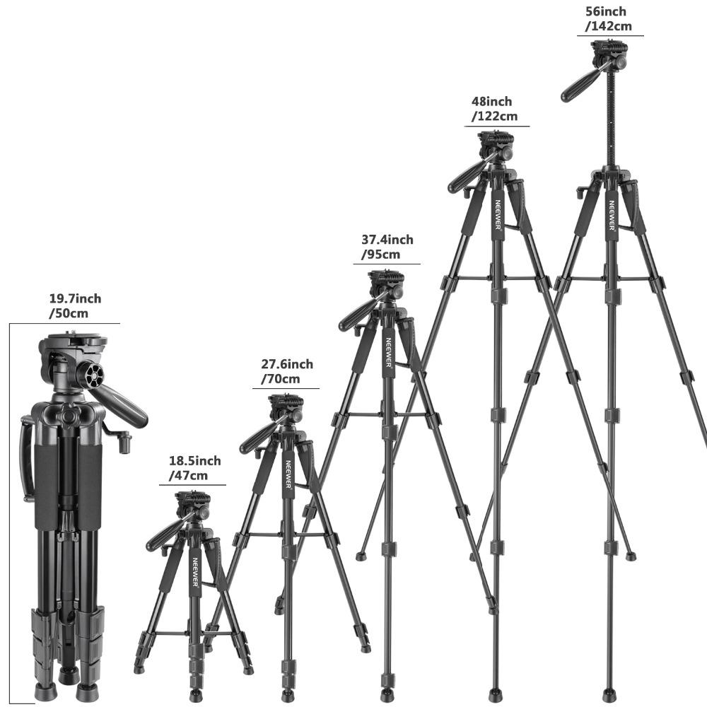 Neewer Kamerastativ Tripod 142cm CANON NIKON SONY