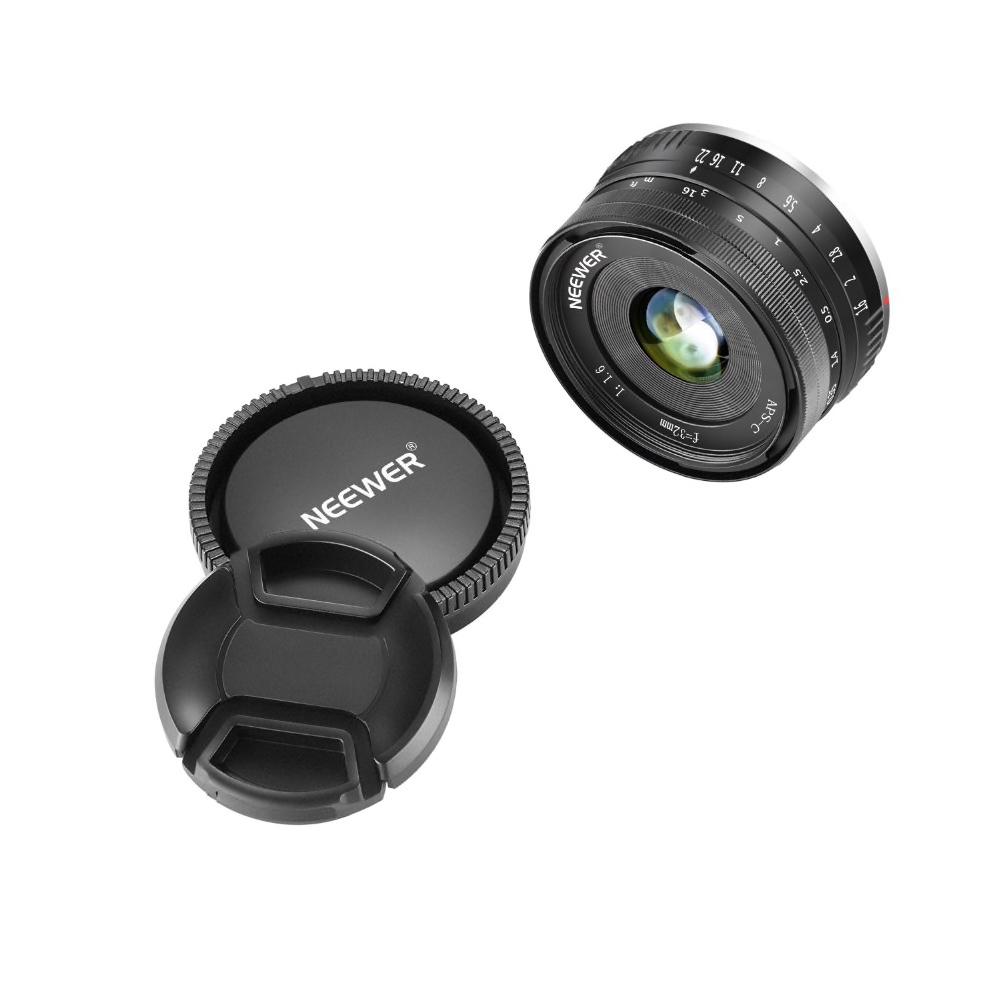 Neewer objektiv 32mm f/1.6 SONY Fast brännvid