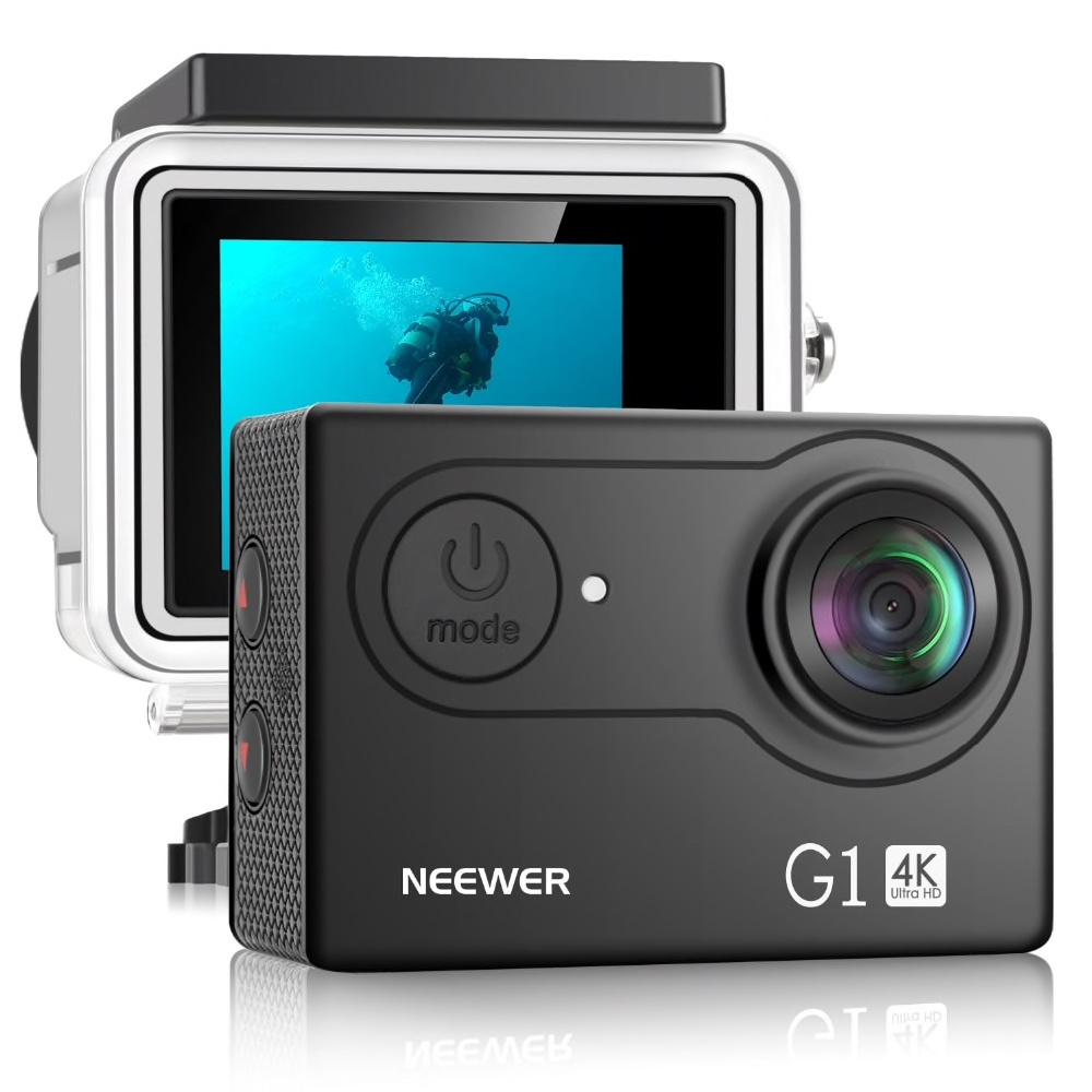 """NEEWER G1 Ultra HD 4K Actionkamera Vattentålig 2"""" Skärm"""