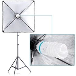 NEEWER Softbox 60x60 studiobelysning 2-Pack komplett E27