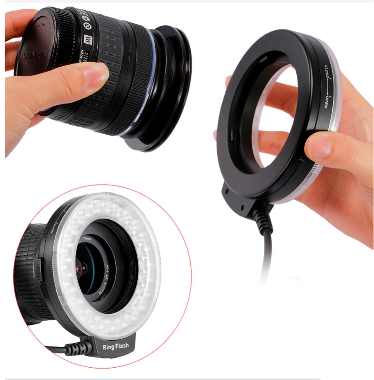 NEEWER Ringblixt LED LCD-display Nikon Canon Panasonic Pentax