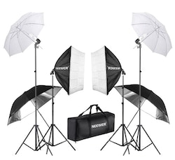 NEEWER Softbox studiobelysning 6-delar 800W