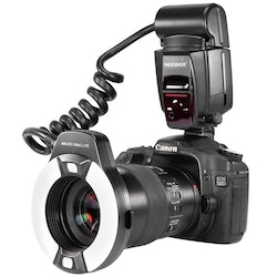 NEEWER Ringblixt LED LCD-display Canon