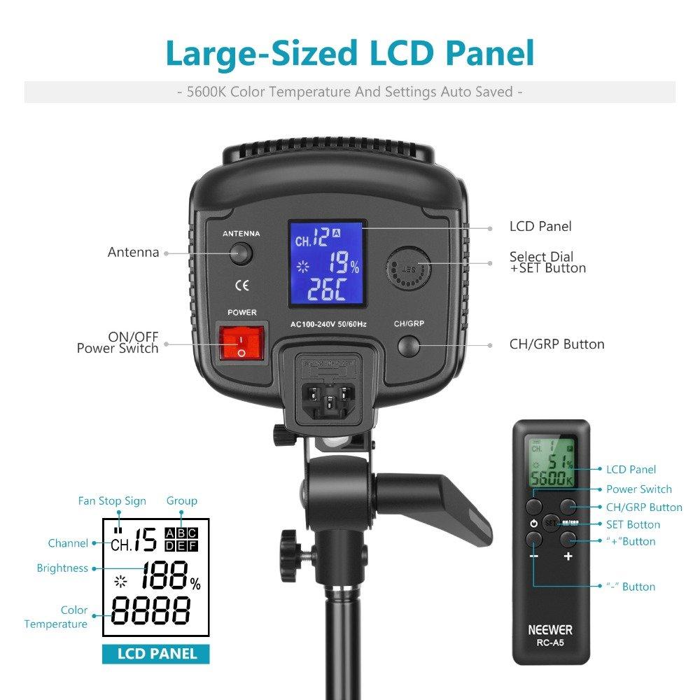 NEEWER Videobelysning Led belysning Studioljus Blixt 150W 5600K