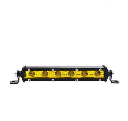 "LED-ljusramp 8"" 18W Spot ledramp gult ljus 3000K fjärrkontroll"