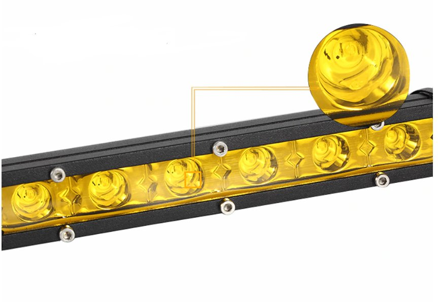 "LED-ljusramp 14"" 36W Spot ledramp gult ljus 3000K fjärrkontroll"