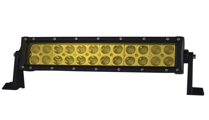 "LED-ljusramp 12"" 72W ledramp gult ljus 6000K fjärrkontroll"