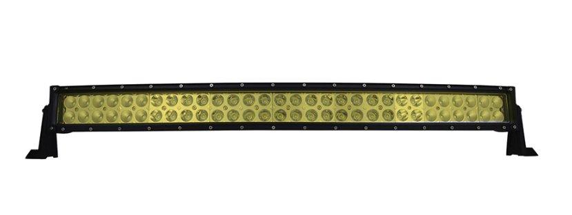 "LED-ljusramp 32"" 180W ledramp böjd gult ljus 6000K fjärrkontroll"