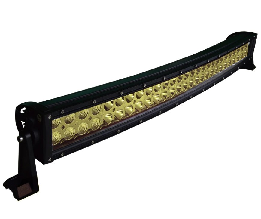 "LED-ljusramp 52"" 300W ledramp böjd gult ljus 6000K"