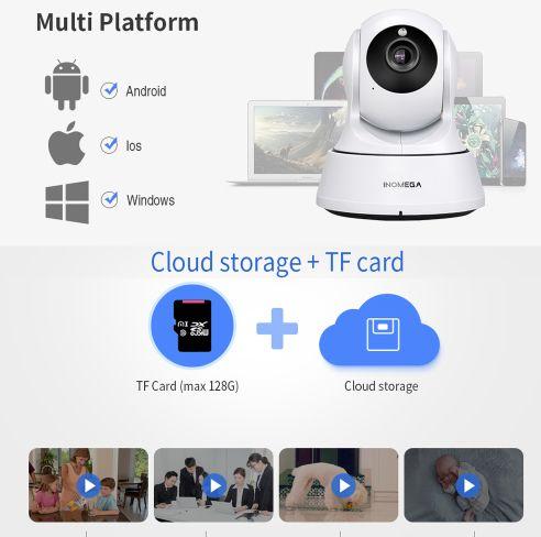 INQMEGA Trådlös Övervakningskamera 720P 32 GB
