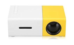 Mini-Projektor 1080P Trådlös inbyggt batteri