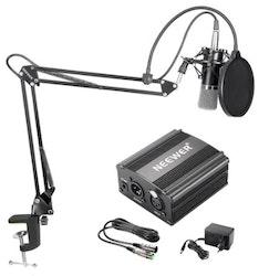 Neewer Mikrofon NW7000 till studio med popfilter arm