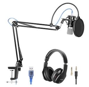 Neewer Mikrofon NW7000  studio med popfilter, arm, headset