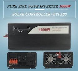 Strömomvandlare 1000w sinusvåg för solpaneler 24V/240V