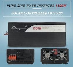 Strömomvandlare 1500W sinusvåg för solpaneler 24V/100V
