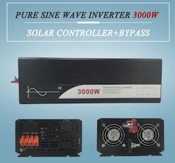 Strömomvandlare 3000W sinusvåg för solpaneler 24V/240V