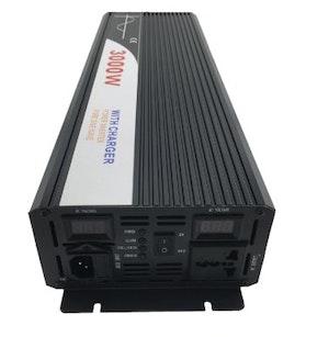 Strömomvandlare 3000W sinusvåg digital display 12V/240V