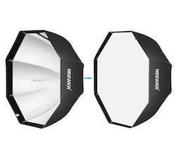 NEEWER Okatgonal Softbox 80cm studiobelysning svart/blå