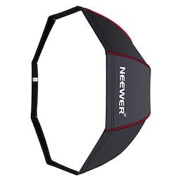 NEEWER Okatgonal Softbox 80cm studiobelysning svart/röd