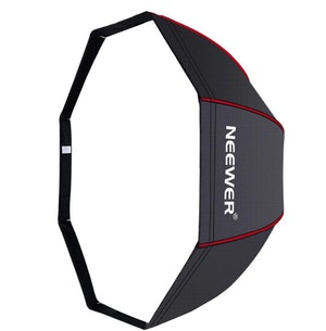 NEEWER Okatgonal Softbox 120cm studiobelysning svart/röd