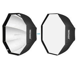 NEEWER Okatgonal Softbox 120cm studiobelysning svart/blå