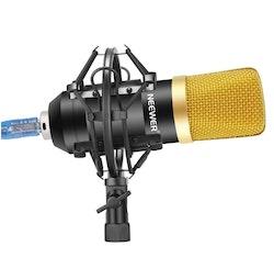 NW-7000 USB Mikrofon till dator vlog content svart/guld