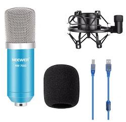 NW-7000 USB Mikrofon till dator vlog content blå/silver