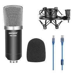 NW-7000 USB Mikrofon till dator vlog content svart/silver