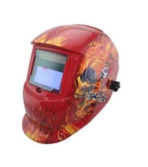 Svetshjälm red head solcellsdriven automatisk