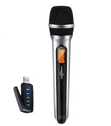 USB Mikrofon till android dator vlog content svart