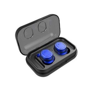 True Wireless Hörlurar Bluetooth 5.0 IPX5 klassade Blå