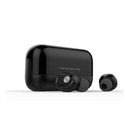 True Wireless Hörlurar Bluetooth 5.0 Brusreducering Svart