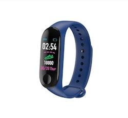 Aktivitetsarmband pulsklocka fitness tracker blå