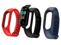 Aktivitetsarmband pulsklocka fitness tracker röd