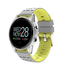 Smartklocka pulsklocka fitness tracker aktivitetsarmband grå