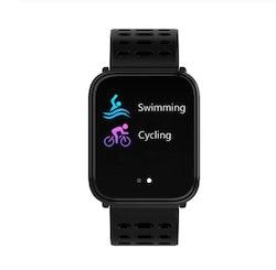 Aktivitetsarmband pulsklocka fitness tracker svart
