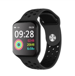Aktivitetsarmband pulsklocka fitness tracker smartklocka svart