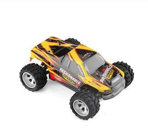 Radiobil RC 35 km/h Eldriven Monstertruck 2 Extrabatterier gul