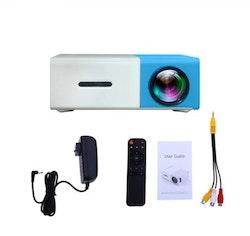 Mini-Projektor 1080P SD-kort blå