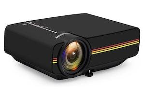 Mini-Projektor SD-kort svart