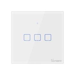 Smart trippel väggbrytare röststyrning Alexa Google Home