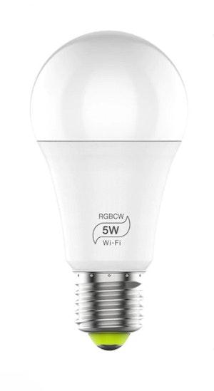 Smartlampa 2-pack dimbar 5 W röststyrning Alexa Google Home