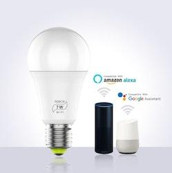 Smartlampa 5-pack dimbar 7 W röststyrning Alexa Google Home