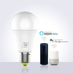 Smartlampa 6-pack dimbar 7 W röststyrning Alexa Google Home