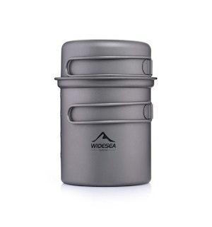 Camping backpacking kokkärl ultralätt titanium