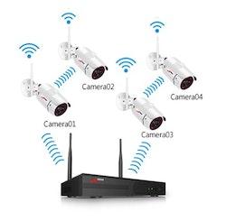 ANRAN Övervakningssystem 6 CAM Wifi trådlös 1080P
