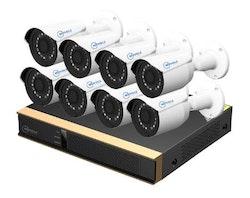 Movols analog övervakningssystem 8 kameror 1080P 1TB