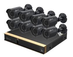 Movols analog övervakningssystem 8 kameror 1080P APP 1TB