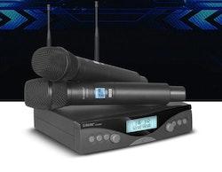 G-Mark G320AM Trådlöst mikrofonsystem 2-kanaler 2 handmikrofoner